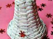 Zvonček z papiera - papierové pletenie - pletenie z papiera - VIDEO ... 610697f55f7